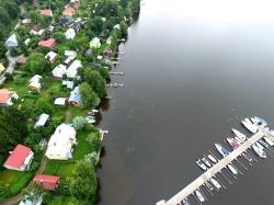 Niitto 19.8.2017 kirkonkylän rannasta – ennen, ilmakuvat Hämeen Vesiniitto Oy (4)
