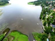Niitto 19.8.2017 kirkonkylän rannasta – jälkeen, ilmakuvat Hämeen Vesiniitto Oy